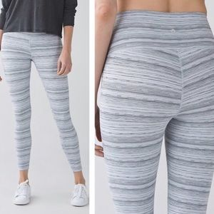 Lululemon High Times Pant Cyber Stripe Size 2